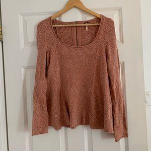 Pink Free People Sweater